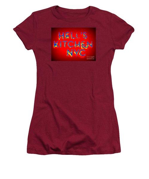 Hell's Kitchen Nyc Women's T-Shirt (Junior Cut) by Ed Weidman
