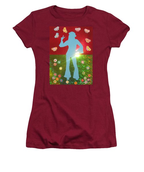 Hippie Girl Women's T-Shirt (Junior Cut) by Jeepee Aero