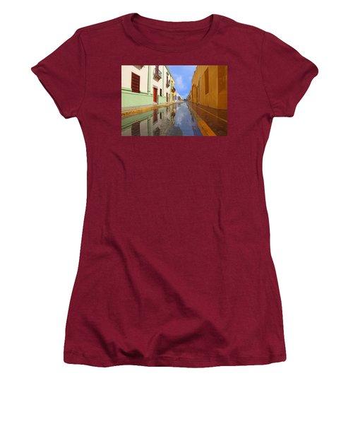 Women's T-Shirt (Junior Cut) featuring the photograph Historic Campeche Mexico  by Susan Rovira