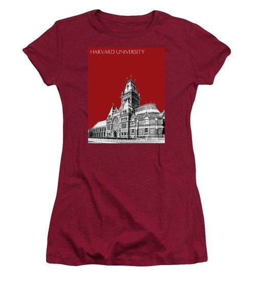 Harvard University - Memorial Hall - Dark Red Women's T-Shirt (Athletic Fit)