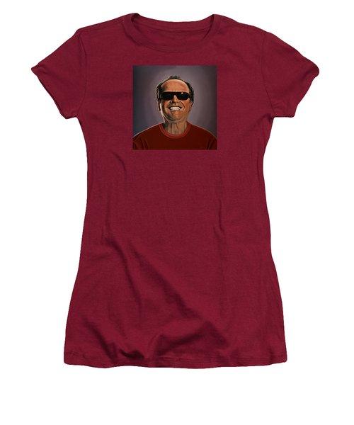 Jack Nicholson 2 Women's T-Shirt (Junior Cut) by Paul Meijering
