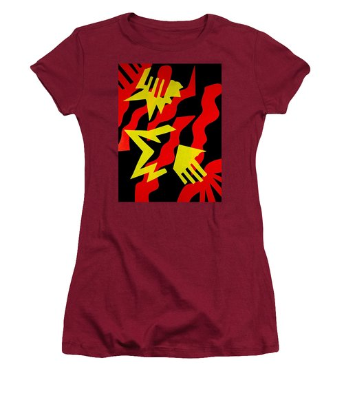 Women's T-Shirt (Junior Cut) featuring the mixed media Jazz by Michele Myers