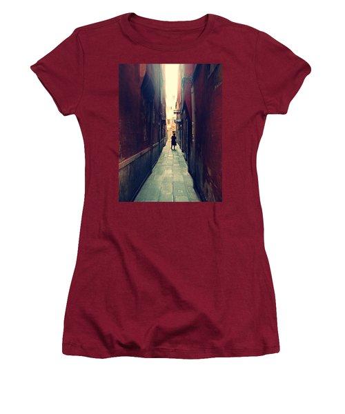 Women's T-Shirt (Junior Cut) featuring the photograph La Cameriera  by Micki Findlay
