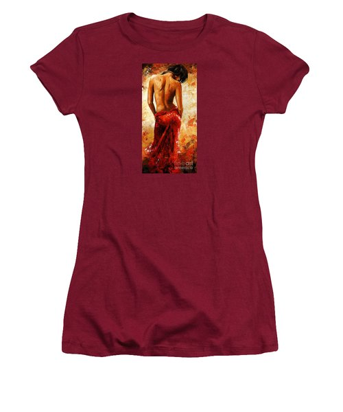 Lady In Red 27 Women's T-Shirt (Junior Cut) by Emerico Imre Toth