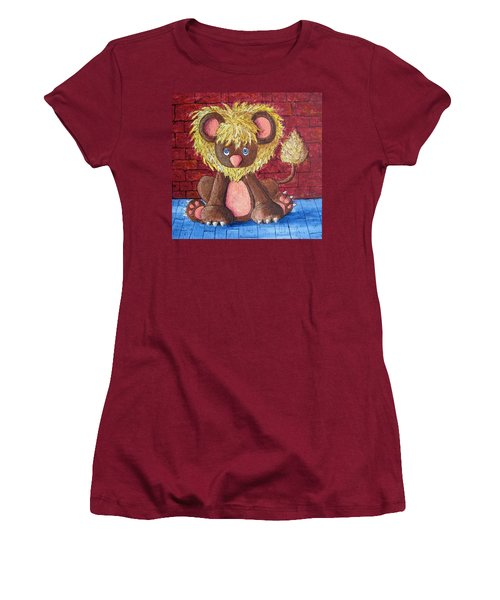 Women's T-Shirt (Junior Cut) featuring the painting Lil Dandelion by Megan Walsh