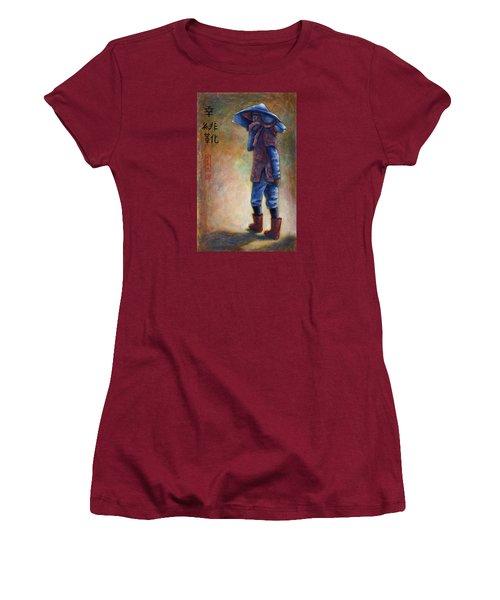 Lucky Red Boots Women's T-Shirt (Junior Cut) by Retta Stephenson