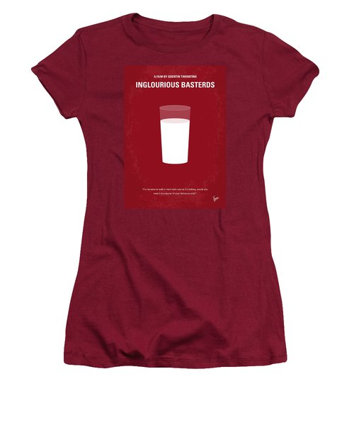 No138 My Inglourious Basterds Minimal Movie Poster Women's T-Shirt (Athletic Fit)