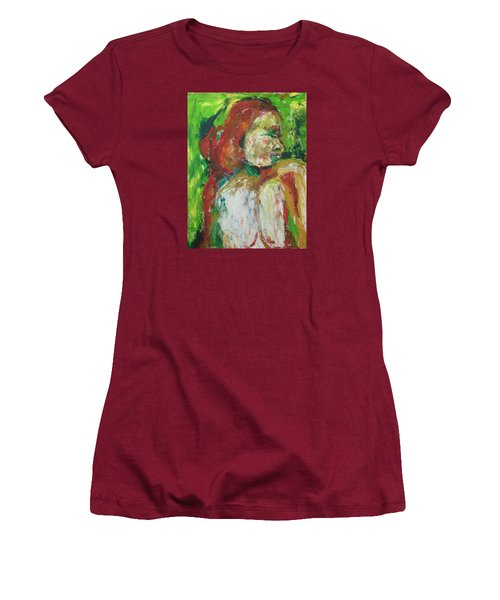 Thinking Of You Women's T-Shirt (Junior Cut) by Esther Newman-Cohen
