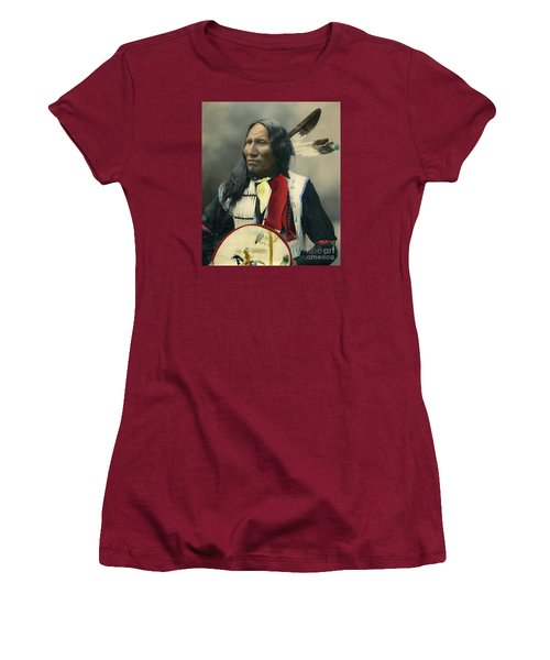 Oglala Chief Strikes With Nose 1899 Women's T-Shirt (Athletic Fit)