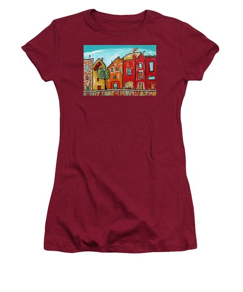 One House Has A Screen Door Women's T-Shirt (Junior Cut) by Mary Carol Williams