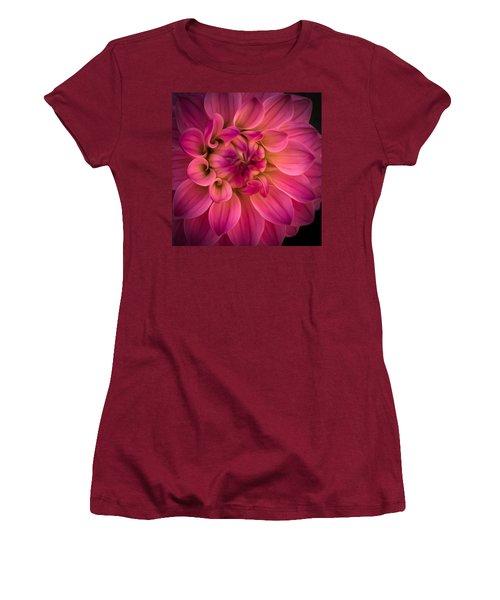 Pink Dahlia Women's T-Shirt (Athletic Fit)