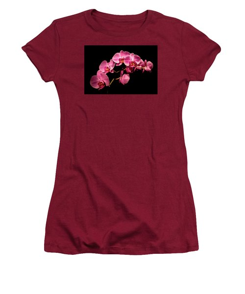 Pink Orchids 3 Women's T-Shirt (Athletic Fit)