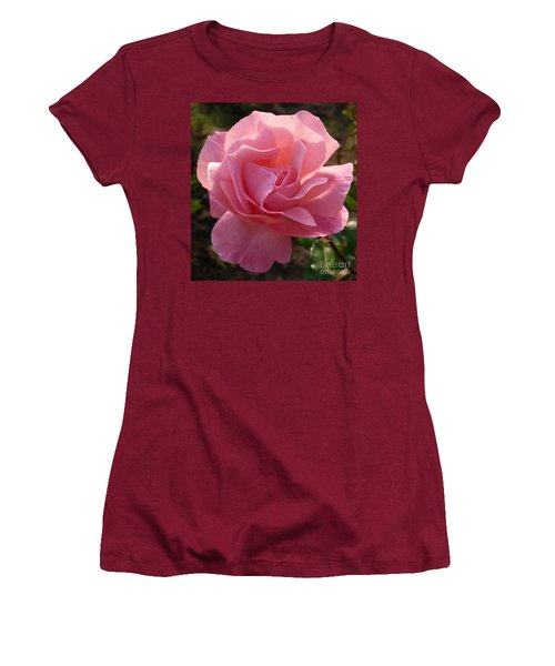 Pink Rose Women's T-Shirt (Junior Cut) by Phil Banks