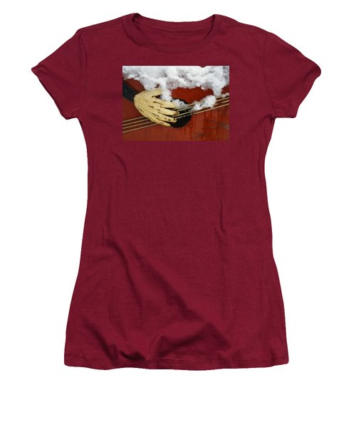 Playing The Cold Blues Women's T-Shirt (Athletic Fit)