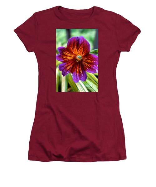 Purple And Orange Women's T-Shirt (Junior Cut) by Jacqueline Athmann