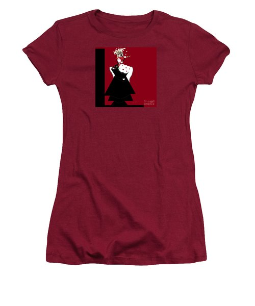 Queen Of Hearts Women's T-Shirt (Athletic Fit)