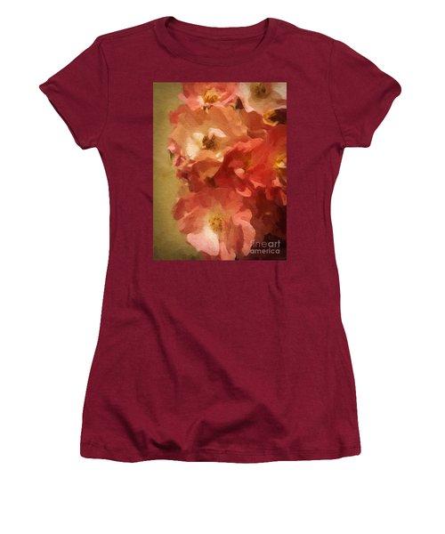 Women's T-Shirt (Junior Cut) featuring the digital art Ramblin Rose Memories by Lianne Schneider