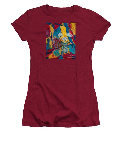 Red Blue Yellow Women's T-Shirt (Junior Cut) by Anna Yurasovsky