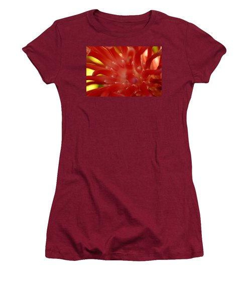 Women's T-Shirt (Junior Cut) featuring the photograph Red Bromeliad by Greg Allore