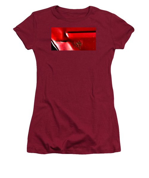 Red Gash Women's T-Shirt (Athletic Fit)