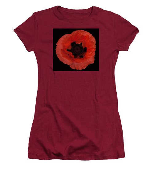 Red Poppy Women's T-Shirt (Junior Cut) by Susan Rovira