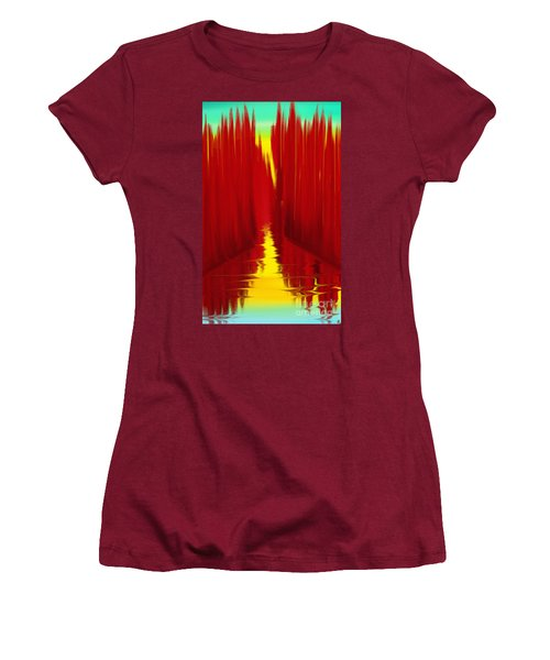 Red Reed River Women's T-Shirt (Junior Cut) by Anita Lewis