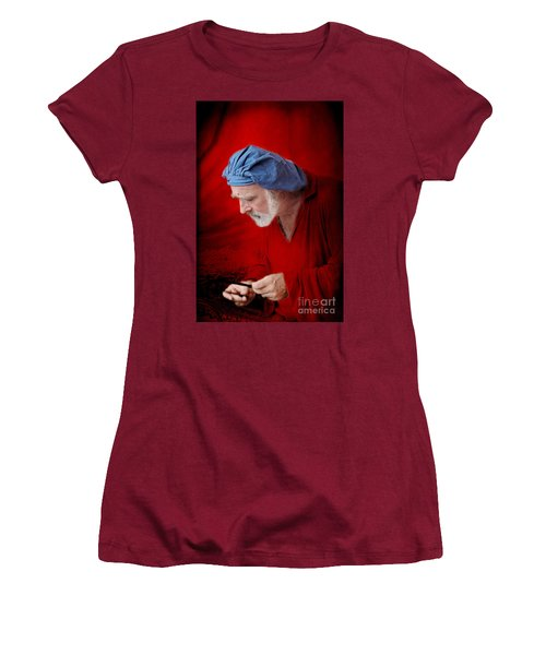 Renaissance Music Man Women's T-Shirt (Junior Cut) by Ellen Cotton