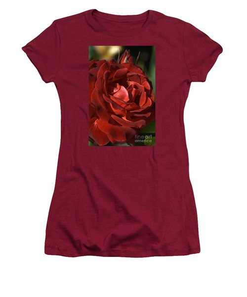 Women's T-Shirt (Junior Cut) featuring the photograph Rich Is Rose by Joy Watson
