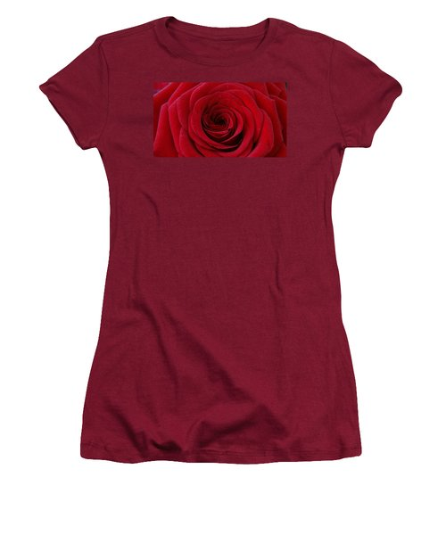 Women's T-Shirt (Junior Cut) featuring the photograph Rose Red by Shawn Marlow