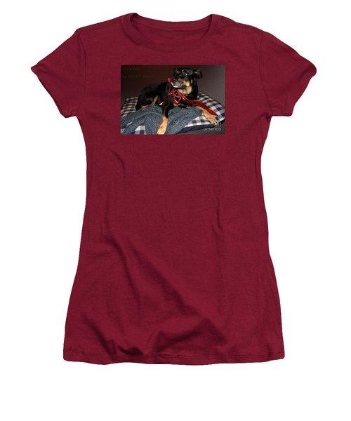 Women's T-Shirt (Junior Cut) featuring the photograph Santa? by Cassandra Buckley