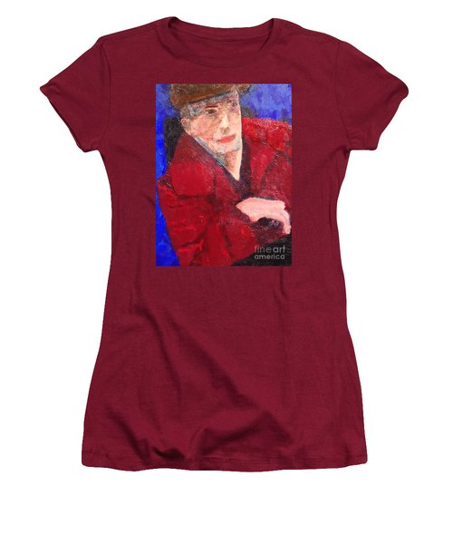 Women's T-Shirt (Junior Cut) featuring the painting Self-portrait by Donald J Ryker III