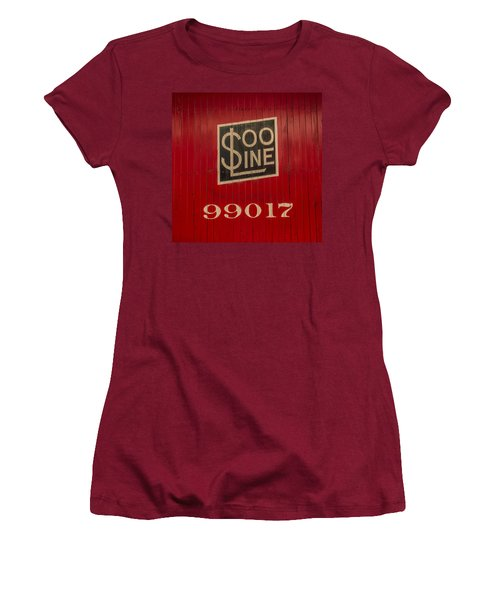 Soo Line Box Car Women's T-Shirt (Athletic Fit)