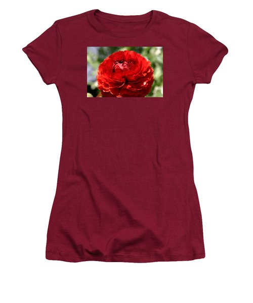 Spring Scarlet Double Begonia Women's T-Shirt (Athletic Fit)