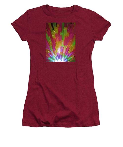 Women's T-Shirt (Junior Cut) featuring the photograph Straws II by John King