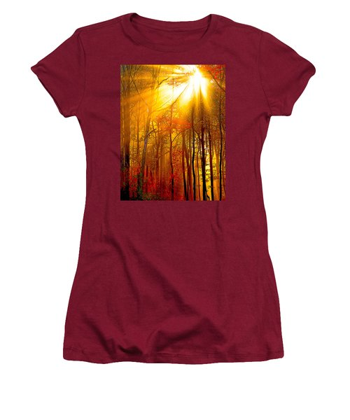 Sunburst In The Forest Women's T-Shirt (Athletic Fit)