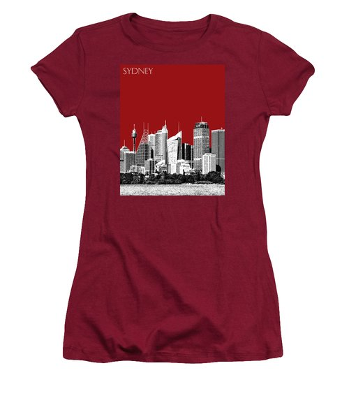 Sydney Skyline 1 - Dark Red Women's T-Shirt (Athletic Fit)