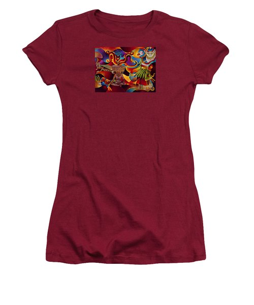Tapestry Of Gods - Huehueteotl Women's T-Shirt (Junior Cut)