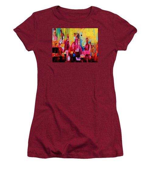 Women's T-Shirt (Junior Cut) featuring the painting The Cabaret by Lisa Kaiser