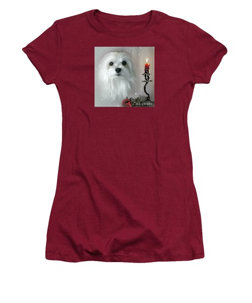 Women's T-Shirt (Junior Cut) featuring the mixed media The Light In My Life by Morag Bates