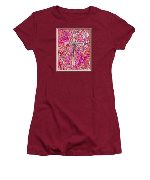 Women's T-Shirt (Junior Cut) featuring the mixed media The Perfect Sacrifice  by Ray Tapajna