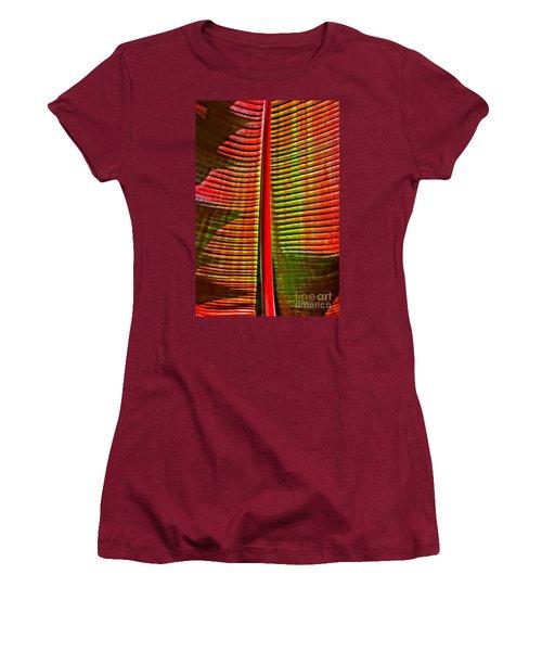 The Red Palm Women's T-Shirt (Junior Cut) by Joseph J Stevens