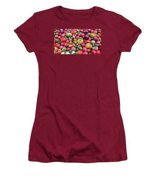 Women's T-Shirt (Junior Cut) featuring the photograph Tomatoes by Bill Owen