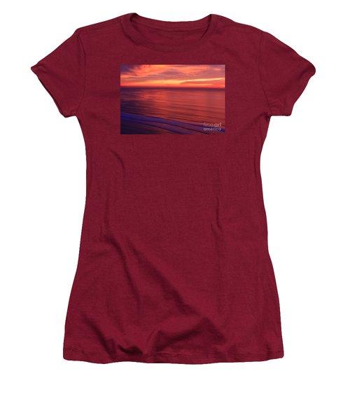 Women's T-Shirt (Junior Cut) featuring the photograph Torrey Pines Twilight by John F Tsumas