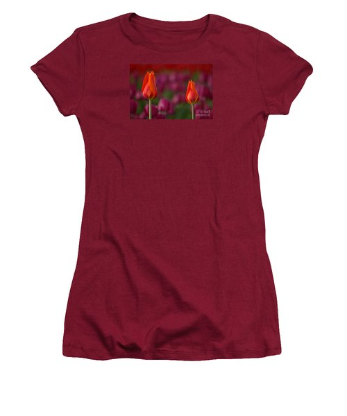 Women's T-Shirt (Junior Cut) featuring the photograph Two Of A Kind by Nick  Boren