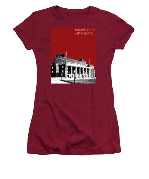 University Of Minnesota - Coffman Union - Dark Red Women's T-Shirt (Athletic Fit)