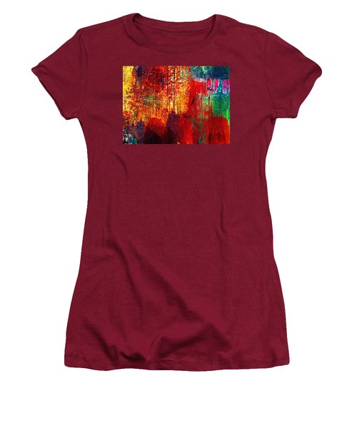 Untamed Colors  Women's T-Shirt (Athletic Fit)