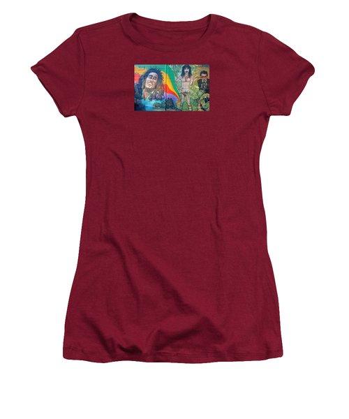 Women's T-Shirt (Junior Cut) featuring the photograph Urban Graffiti 1 by Janice Westerberg
