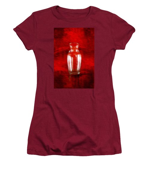 Women's T-Shirt (Athletic Fit) featuring the photograph Vase En Rouge by Aaron Berg
