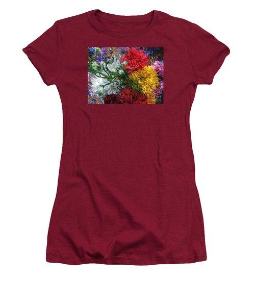 Warning Flowers At Large Women's T-Shirt (Junior Cut) by Joseph J Stevens