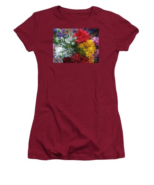 Warning Flowers At Large Women's T-Shirt (Athletic Fit)